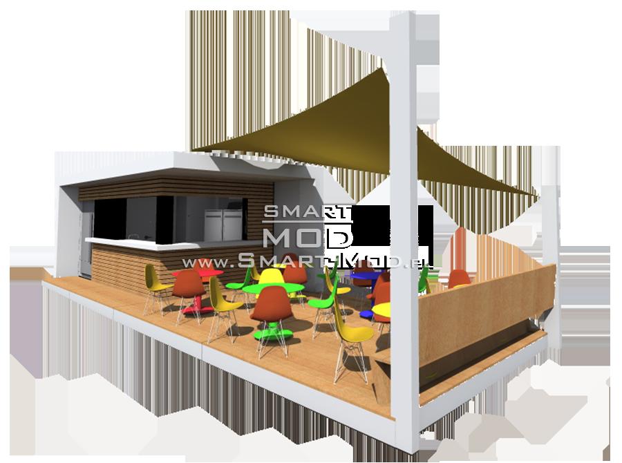 bar modułowy na plaży
