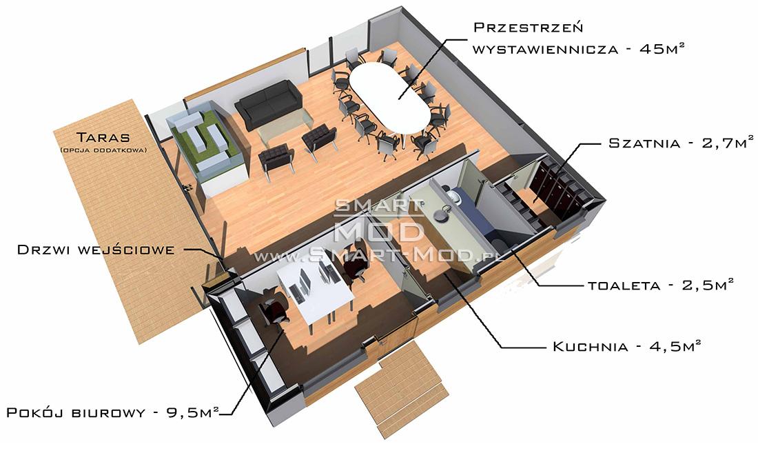 showroom modułowy