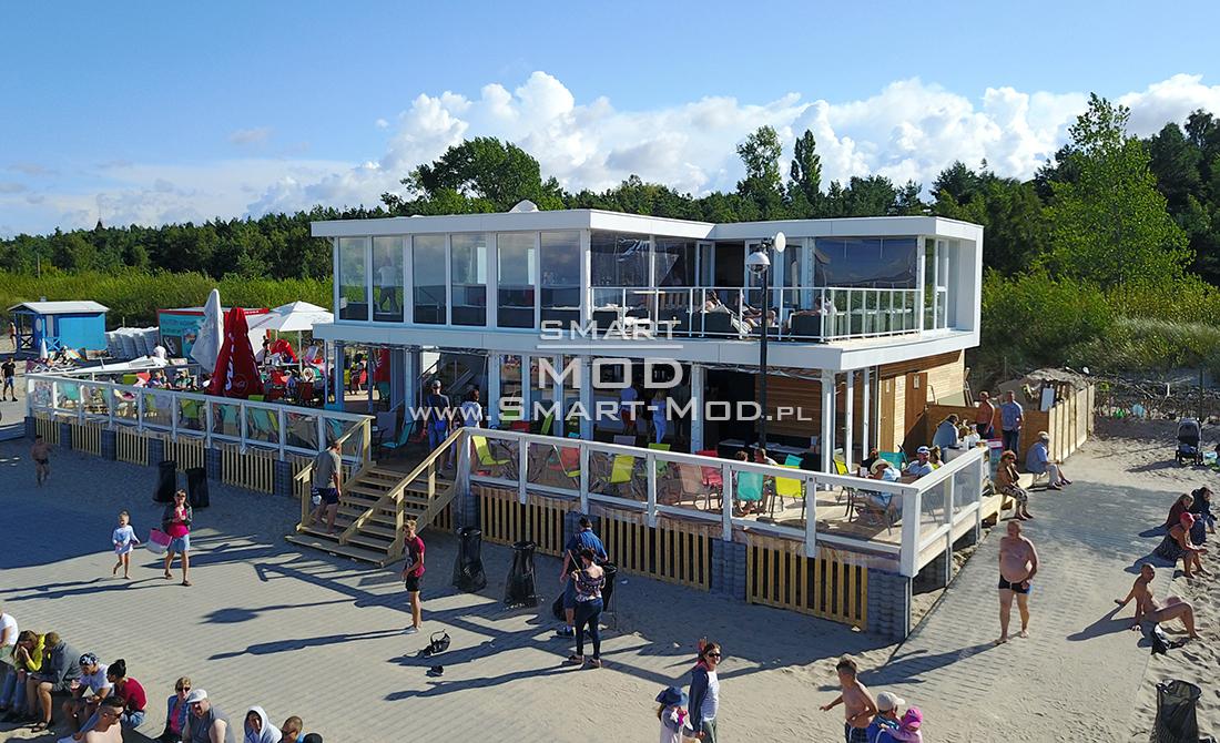 bar na plaży obiekt sezonowy