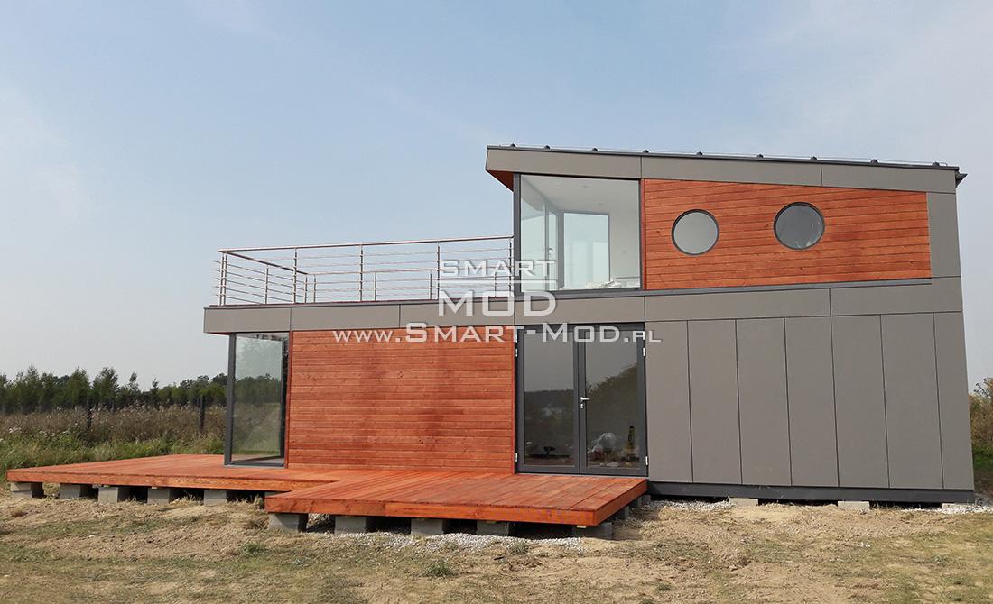modułowe piętrowe domki letniskowe z tarasem