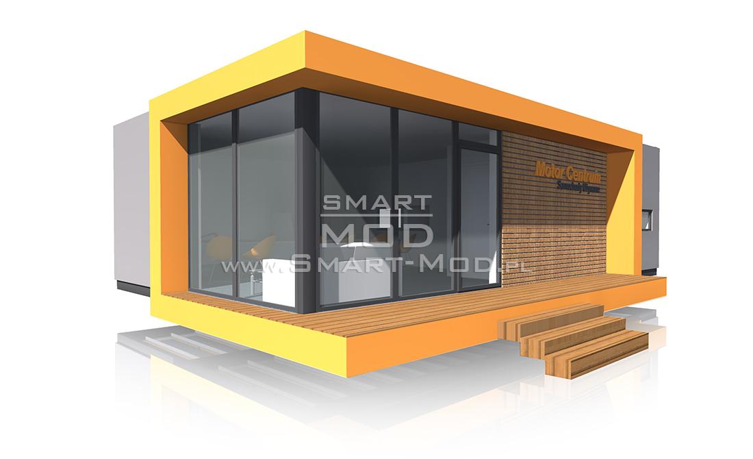 biuro modułowe na konstrukcji stalowej