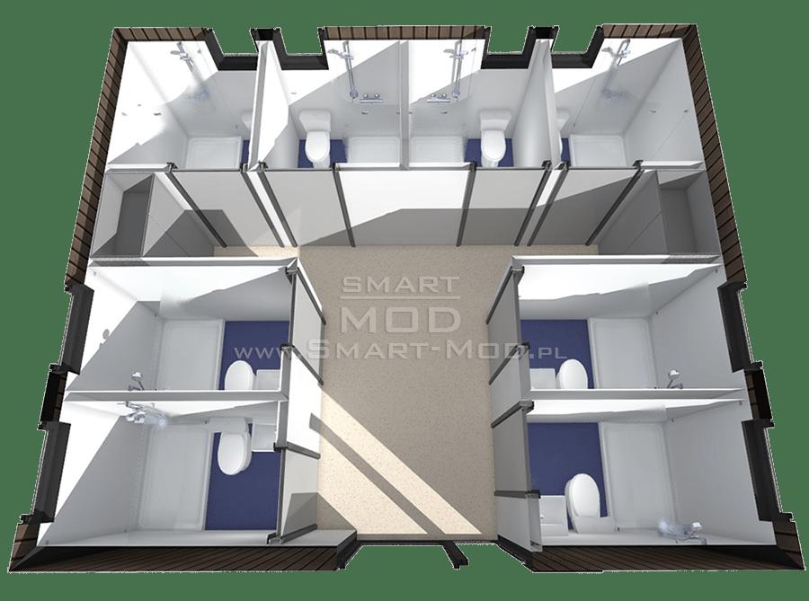 plan toalety na pole kempingowe