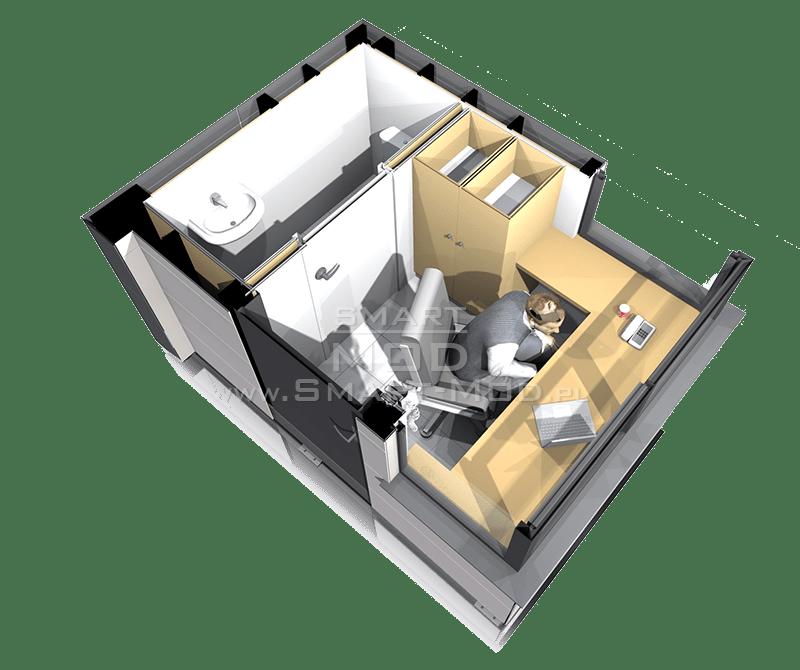 stróżówka modułowa z toaletą