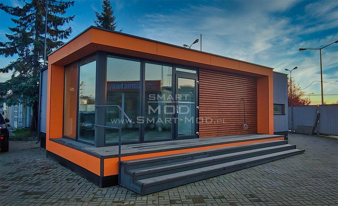 biuro modułowe na placu sprzedazowym