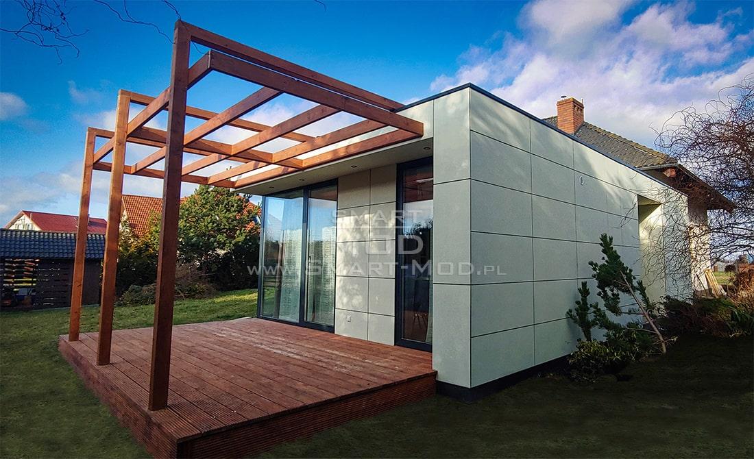 nowoczesny dom modułowy całoroczny