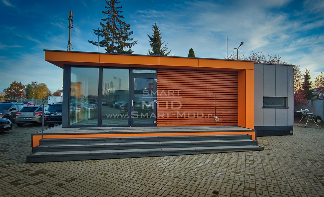 biuro modulowe na placu