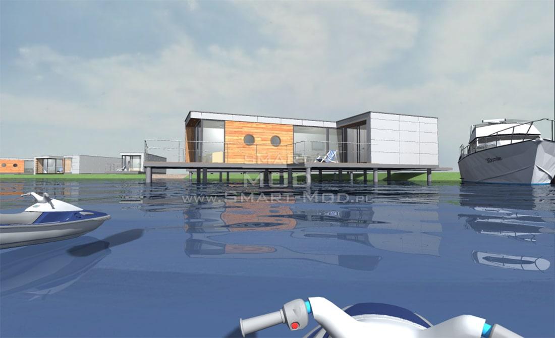 domek letniskowy na wodzie
