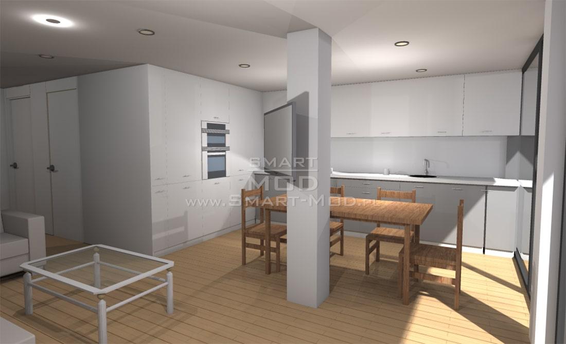 dom modułowy kuchnia