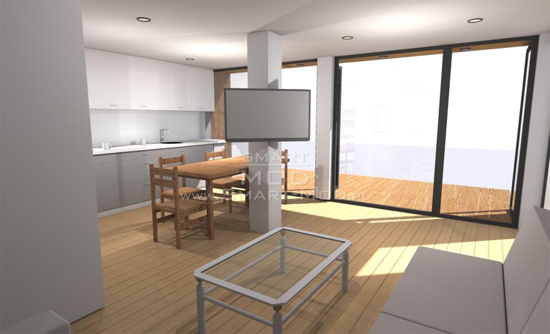 dom modułowy wizualizacja