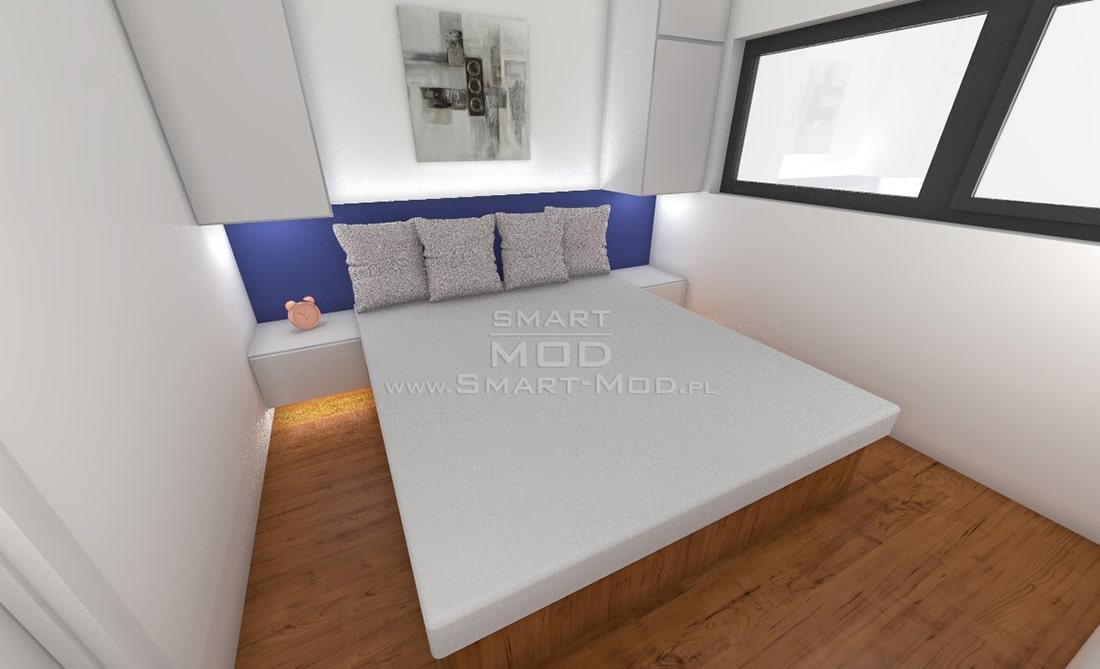 sypialnia domku kempingowego