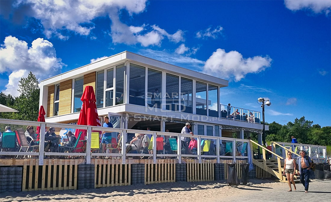 bar modulowy na plazy smart-mod budynek tymczasowy