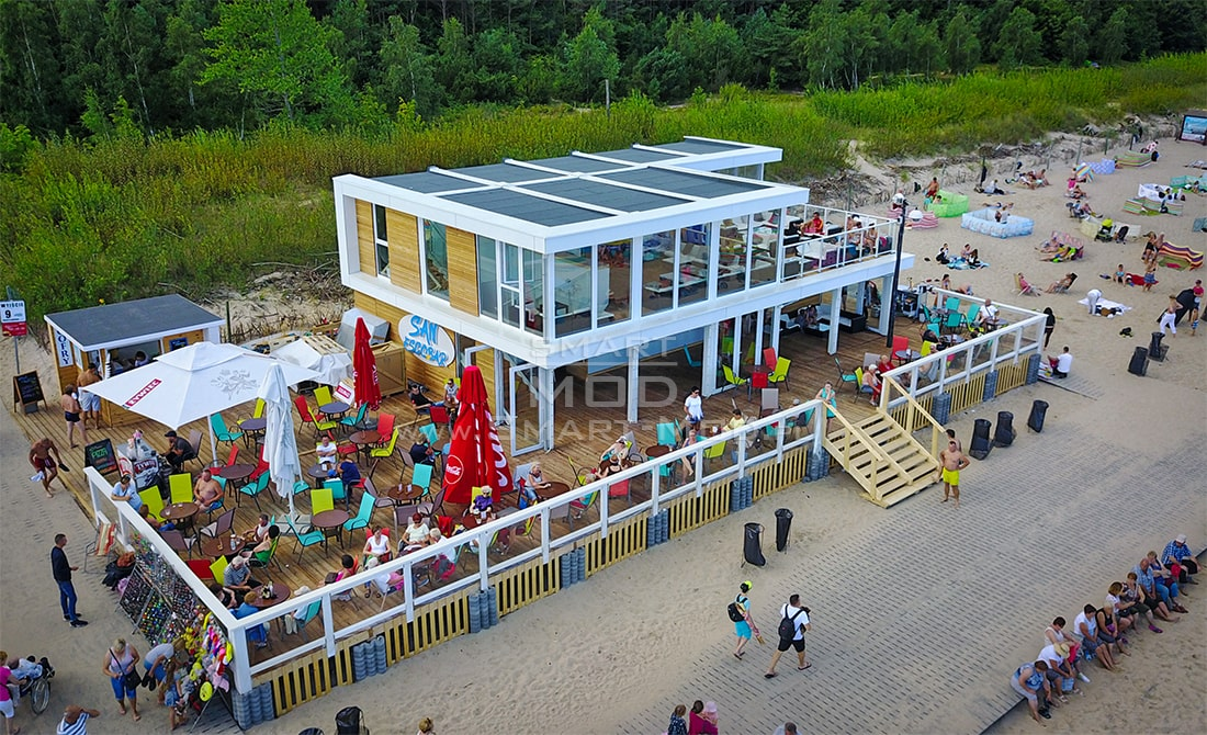 bar na plazy smart-mod obiekt sezonowy modulowy