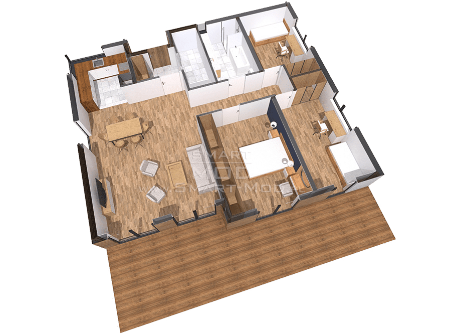 plan domu modułowego całorocznego